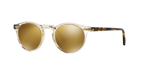 Oliver Peoples Oliver Peoples GREGORY PECK SUN OV5217S OV 5217S 1485W4 Buff/Dark Tortoise Brown
