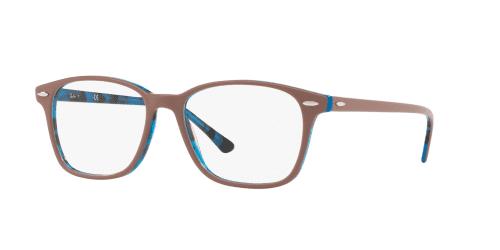 Ray-Ban RX7119 5715 Top Light Brown on Havana Blue
