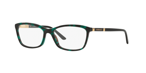 Versace VE3186 5076 Green Havana Transparent
