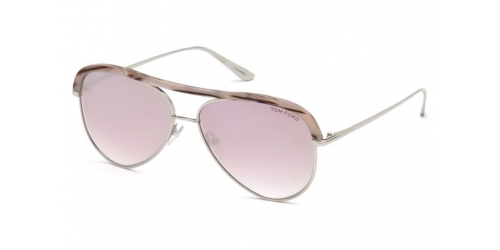 Tom Ford SABINE-02 TF0606 16Z Shiny Palladium