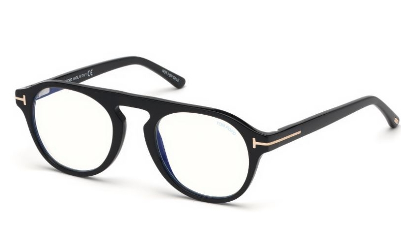 ce1b0bb3d8 Tom Ford TF5533-B Blue Control with Clip On Sunglasses TF 5533-B Blue  Control with Clip On Sunglasses 01V Shiny Black Blue