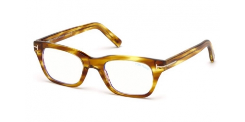 Tom Ford TF5536-B Blue Control TF 5536-B 045 Shiny Light Brown