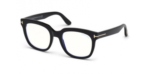 Tom Ford Tom Ford TF5537-B Blue Control TF 5537-B 001 Shiny Black