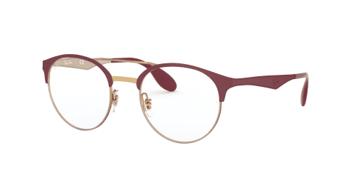 Ray-Ban Ray-Ban RX3545V RX 3545V 3007 Pink Gold on Top Matte Bordeaux