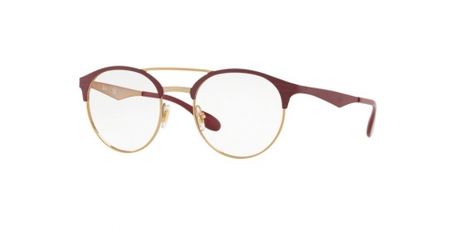 Ray-Ban RX3545V RX 3545V 3007 Pink Gold on Top Matte Bordeaux
