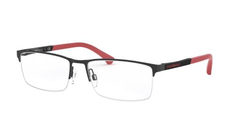 Emporio Armani EA1041 3109 Black Rubber/Red
