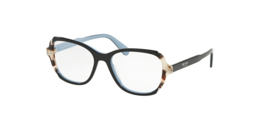 Prada Prada PR03VV PR 03VV KHR1O1 Top Black/Azure/Spotted Brown