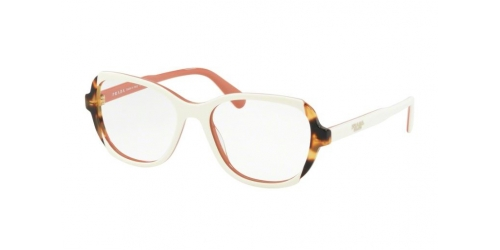 Prada PR03VV PR 03VV 0R91O1 Top Ivory/Pink/Medium Havana