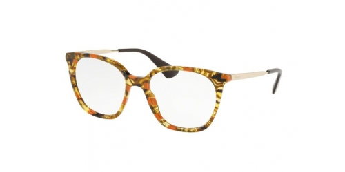 Prada PR11TV PR 11TV KJN1O1 Striped Brown/Orange