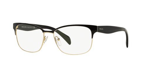 Prada Prada PR65RV PR 65RV QE31O1 Black on Pale Gold