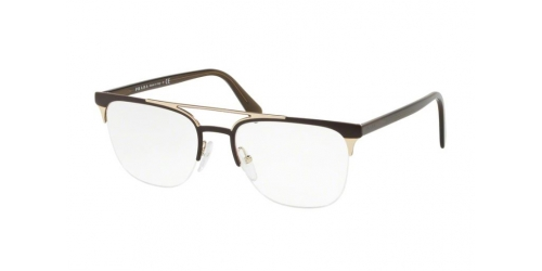 Prada PR63UV PR 63UV LFD1O1 Matte Brown/Matte Pale Gold