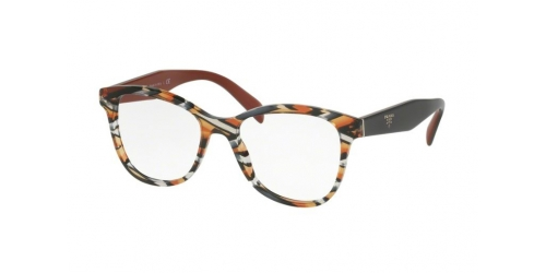 Prada PR12TV PR 12TV VAN1O1 Sheaves Grey Orange