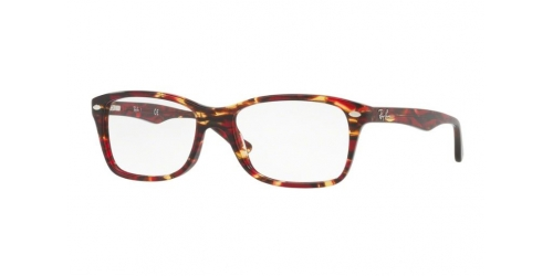 Ray-Ban RX5228 5710 Spotted Red/Brown/Yellow