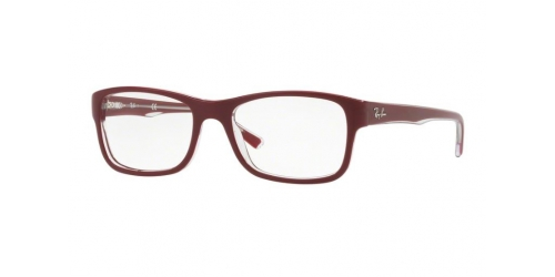 Ray-Ban RX5268 5738 Top Bordeaux on Transparent