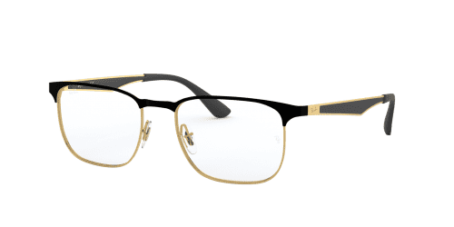Ray-Ban Ray-Ban RX6363 2890 Gold Top on Black