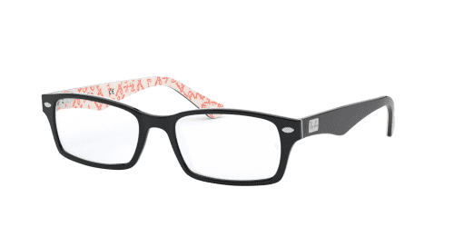 Ray-Ban Ray-Ban RX5206 5014 Top Black on Texture White