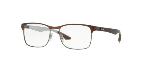0aa38d4a55c Brown or Red Rectangular Ray-Ban Designer Frames