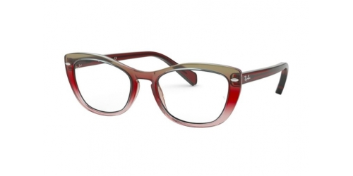 Ray-Ban RX5366 5835 Tri Gradient Bordeaux/Grey/Pink