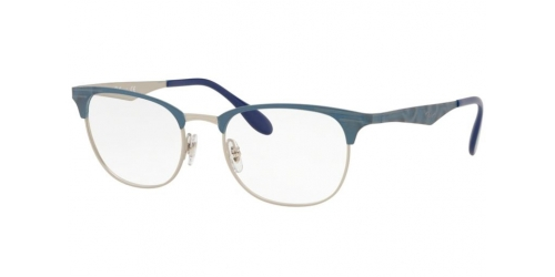 Ray-Ban RX6346 3022 Matte Silver on Top Matte Blue
