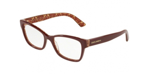 Dolce & Gabbana DG3274 3205 Bordeaux on Damascus Glitter