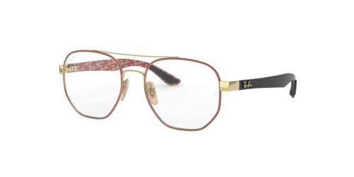Ray-Ban RX8418 3015 Gold on Top Matte Bordeaux