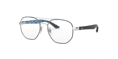 Ray-Ban RX8418 3016 Silver on Top Matte Blue