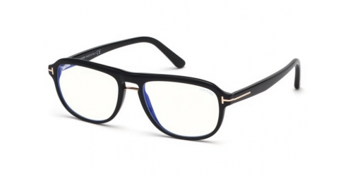 Tom Ford TF5538-B Blue Control TF 5538-B 001 Shiny Black