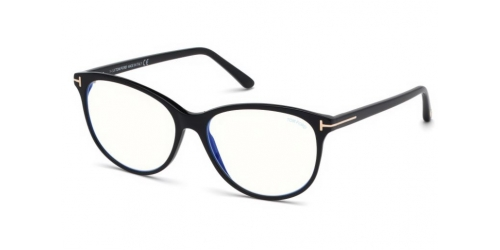 Tom Ford TF5544-B Blue Control TF 5544-B 001 Shiny Black