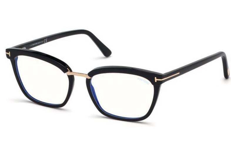 968b0da90f1 Tom Ford TF5550-B Blue Control TF 5550-B Blue Control 001 Shiny Black