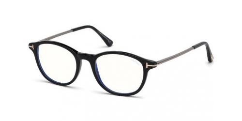 Tom Ford TF5553-B Blue Control TF 5553-B 001 Shiny Black