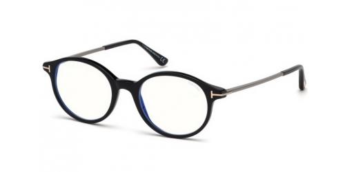 Tom Ford TF5554-B Blue Control TF 5554-B 001 Shiny Black