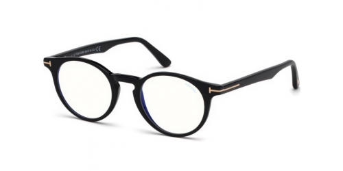 Tom Ford Tom Ford TF5557-B Blue Control TF 5557-B 001 Shiny Black