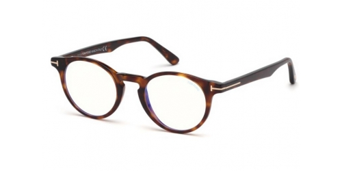 Tom Ford TF5557-B Blue Control TF 5557-B 052 Dark Havana