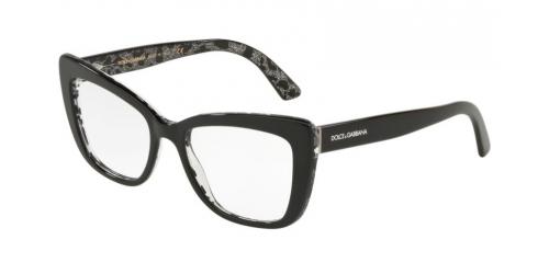 Dolce & Gabbana DG3308 3203 Black on Leo Glitter