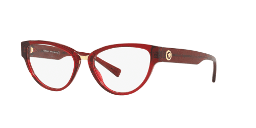 Versace THE CLANS VE3267 388 Transparent Red