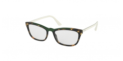 Prada CATWALK PR10VV PR 10VV 3211O1 Medium Havana/Green