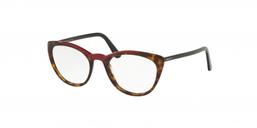 Prada CATWALK ULTRAVOX EVOLUTION PR07VV PR 07VV 3201O1 Havana/Red