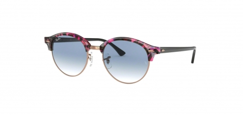 Ray-Ban RB4246 Clubround 12573F Spotted Grey/Violet
