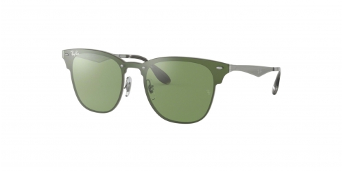 Ray-Ban BLAZE CLUBMASTER RB3576N RB 3576N 042/30 Brushed Silver