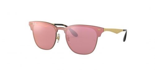 Ray-Ban BLAZE CLUBMASTER RB3576N RB 3576N 043/E4 Brushed Gold