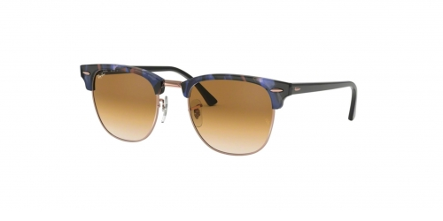 Ray-Ban Clubmaster RB3016 125651 Spotted Brown Blue