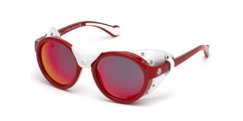 Moncler ML0046 67C Matte Red/Smoke Mirror