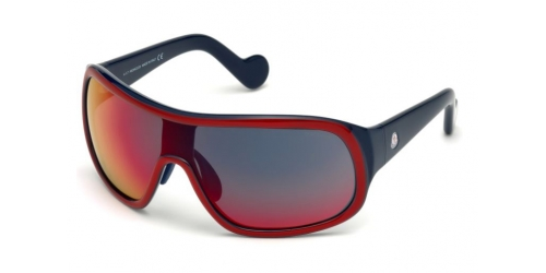 Moncler ML0048 SHIELD 68C Red/Smoke Mirror