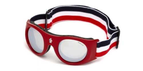 Moncler Moncler UNISEX GOGGLES ML0051 Mask 68C Red/Smoke Mirror