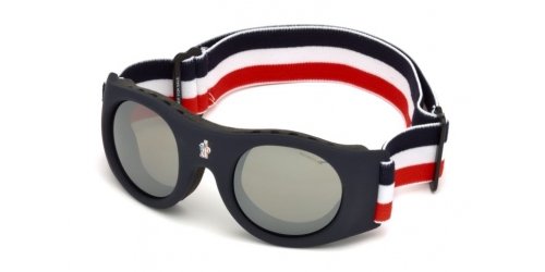 Moncler UNISEX GOGGLES ML0051 Mask 92C Blue/Smoke Mirror