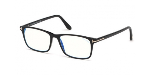 Tom Ford TF5584-B Blue Control TF 5584-B 001 Shiny Black