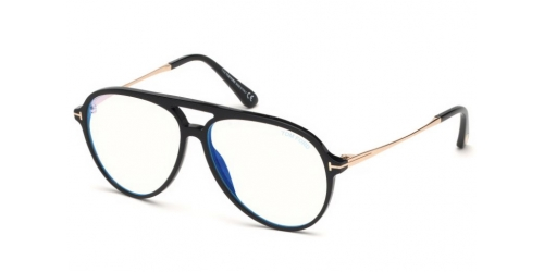 Tom Ford TF5586-B Blue Control TF 5586-B 001 Shiny Black