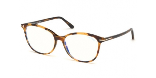 Tom Ford TF5576-B Blue Control TF 5576-B 055 Light Havana