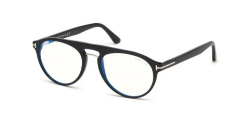 Tom Ford TF5587-B Blue Control TF 5587-B 001 Shiny Black