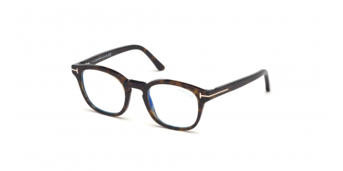 TF5532-B Blue Control with Clip On Sunglasses TF 5532-B Blue Control with Clip On Sunglasses 52J Dark Havana
